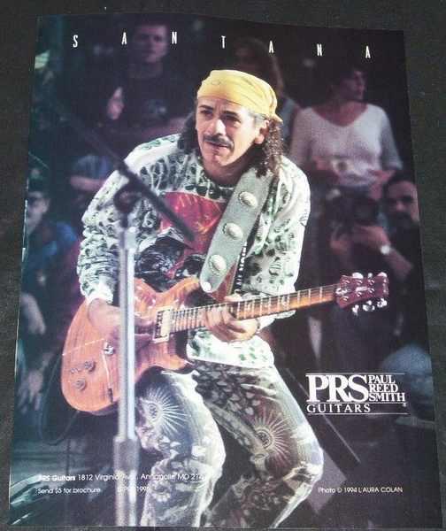 SANTANA - PRS Guitars Magazine Ad  1994 - Others