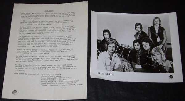 BLUE SWEDE - Press Kit W/Photo - Autres