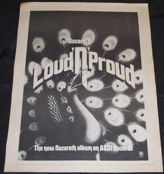 NAZARETH - Loud N Proud (2/14/74 Rolling Stone Magazine Ad) - Others