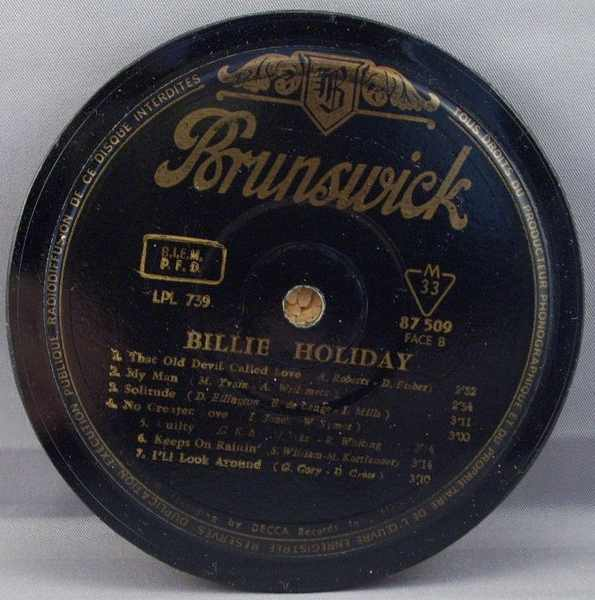 HOLIDAY,  BILLIE - Self Titled Billie Holiday - Sous-Boque