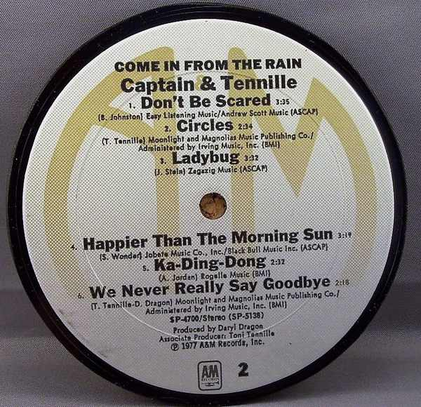 CAPTAIN & TENNILLE - Come In From The Rain - Drink Coaster
