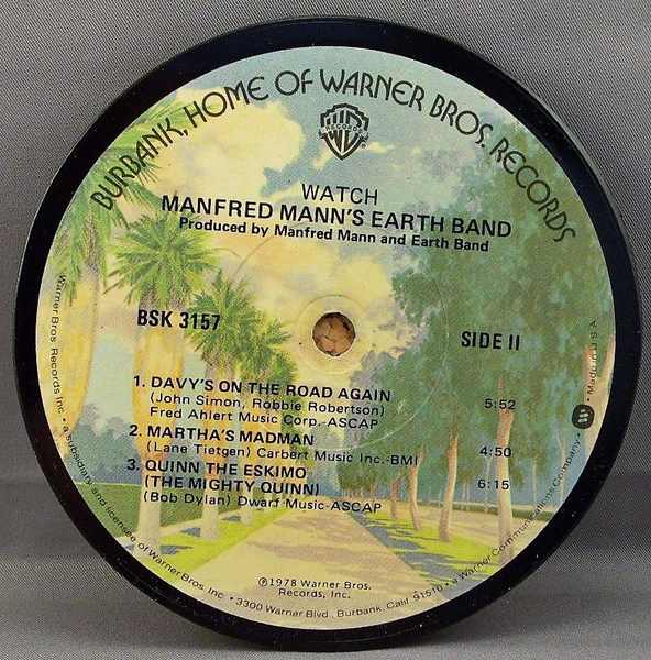 MANN,  MANFRED EARTH BAND - Watch - Sous-Boque