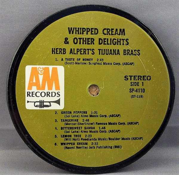 ALPERT,  HERB & THE TIJUANA BRASS - Whipped Cream & Other Delights - Sous-Boque