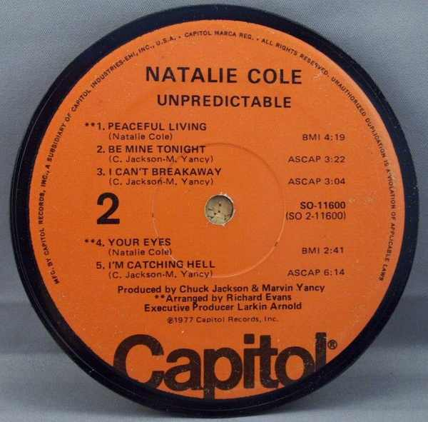 COLE,  NATALIE - Unpredictable - Sous-Boque