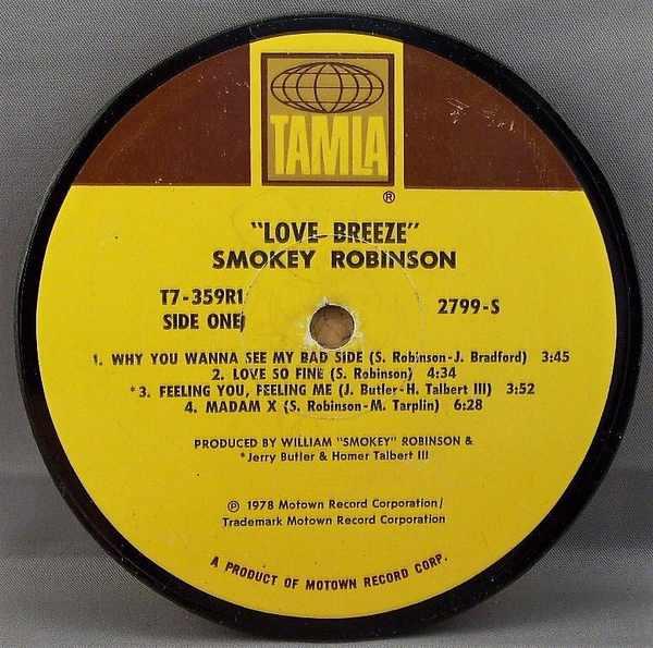 ROBINSON,  SMOKEY - Love Breeze - Sous-Boque