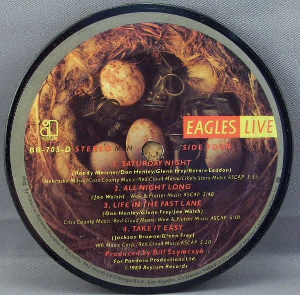 EAGLES - Eagles Live (side 4) - Sous-Boque