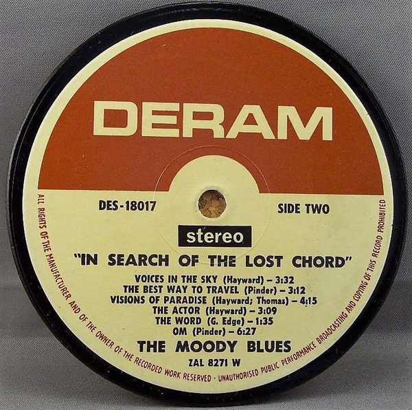 MOODY BLUES - In Search Of The Lost Chord - Drink Coaster