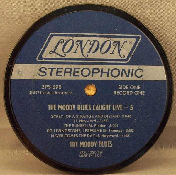 MOODY BLUES - Moody Blues Caught Live + 5 - Drink Coaster