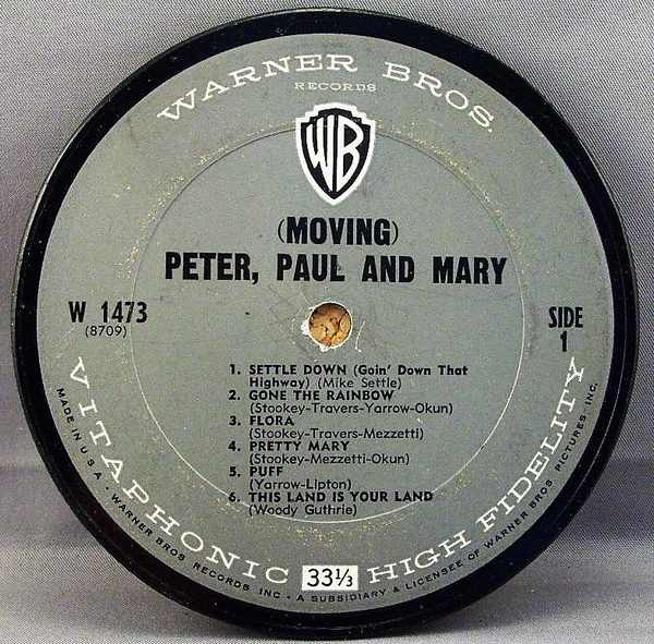 PETER , PAUL & MARY - Moving - Sous-Boque