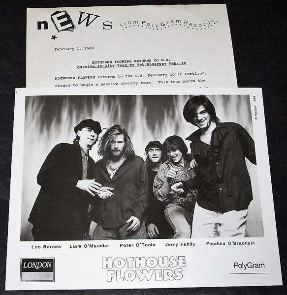 HOTHOUSE FLOWERS - 1989 Polygram Promo Tour Press Kit - Others