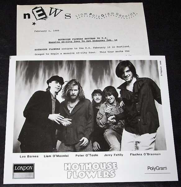 HOTHOUSE FLOWERS - 1989 Polygram Promo Tour Press Kit - Autres