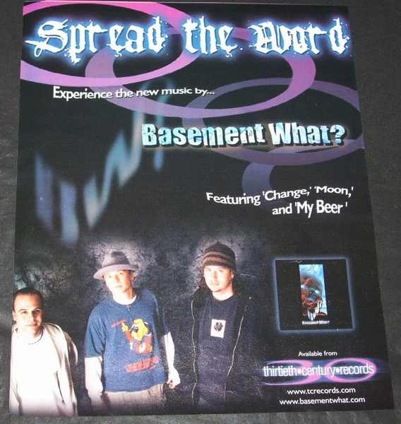 BASEMENT WHAT? - Self Titled Basement What? Billboard Trade Ad 2001 - Autres