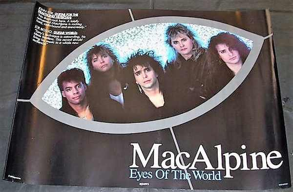 MacAlpine, Tony - Eyes Of The World 1990 Promo Poster - Click Image to Close
