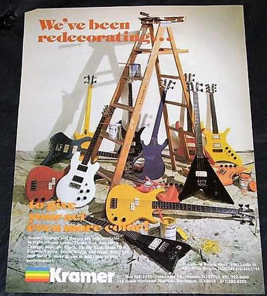 KRAMER GUITARS - 1981 Guitar Player Magazine Ad - Autres