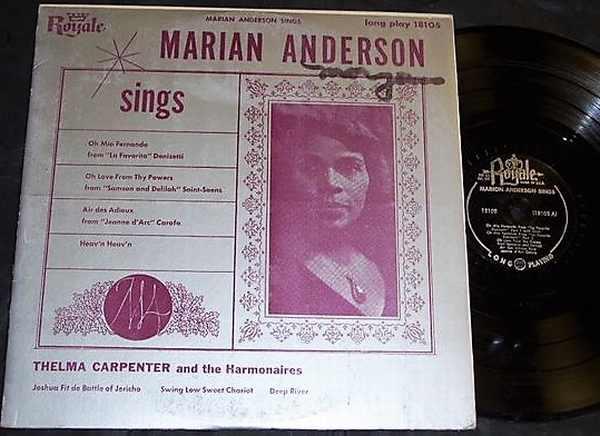 ANDERSON,  MIRIAN - Marian Anderson Sings - LP