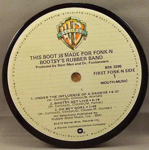 BOOTSY'S RUBBER BAND - This Boot Is Made For Fonk-N - Drink Coaster