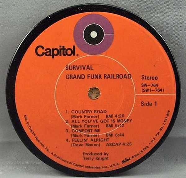 GRAND FUNK RAILROAD - Survival - Sous-Boque