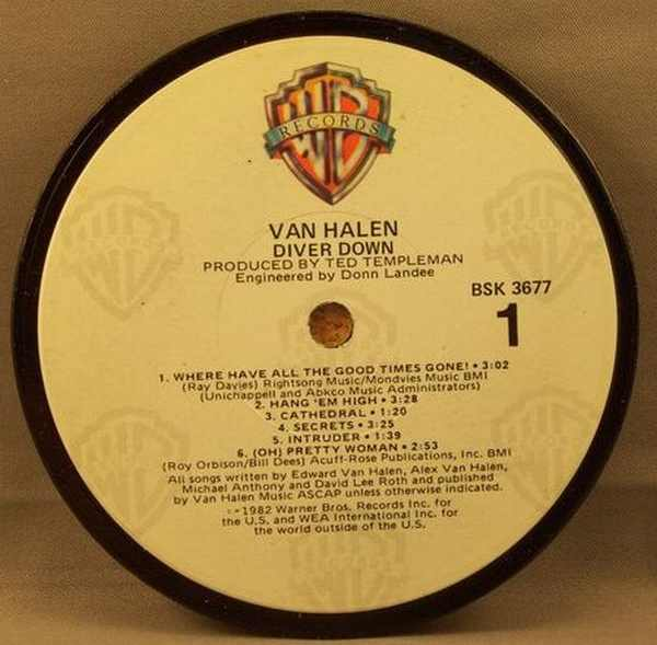 VAN HALEN - Diver Down - Drink Coaster