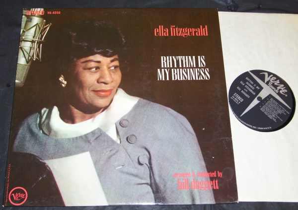 FITZGERALD,  ELLA - Rhythm Is My Business - LP