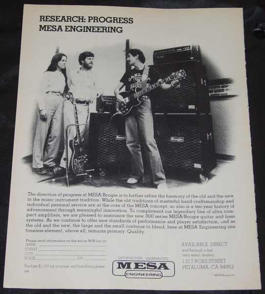 SANTANA,  CARLOS - Mesa Boogie 300 Series Magazine Ad - Others