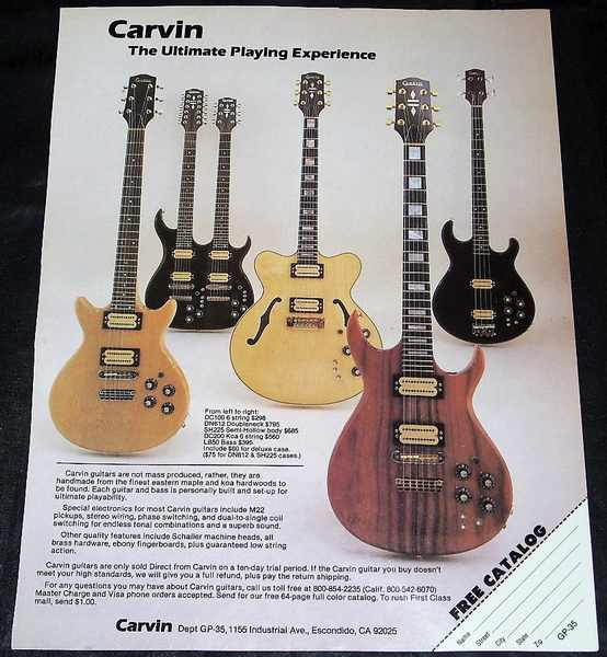 CARVIN GUITARS - 1981 Guitar Player Magazine Ad - Autres