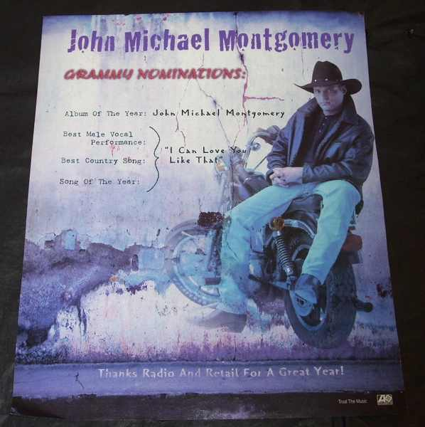 MONTGOMERY,  JOHN MICHAEL - I Can't Love You Like That Billboard Trade Ad 1996 - Autres
