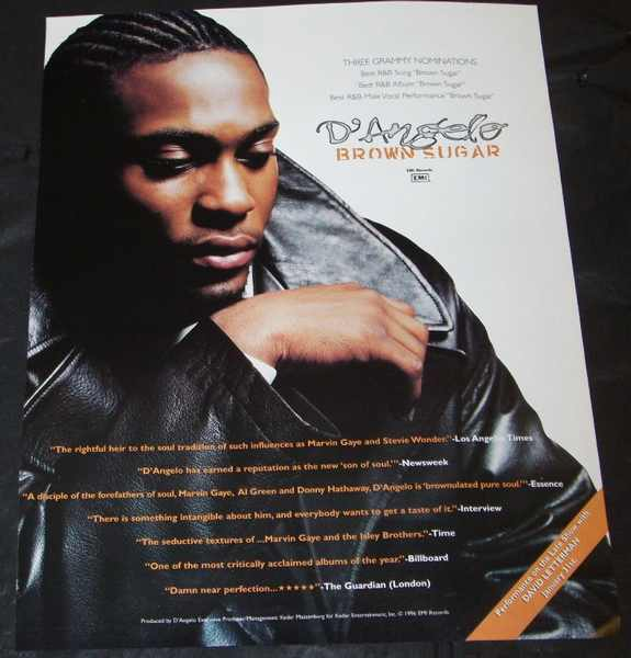 D'ANGELO - Brown Sugar Billboard Magazine Trade Ad 1996 - Autres