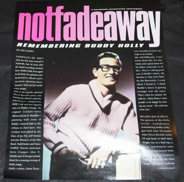 Holly,  Buddy Not Fade Away Remembering Buddy Holly Billboard Trade Ads 1996