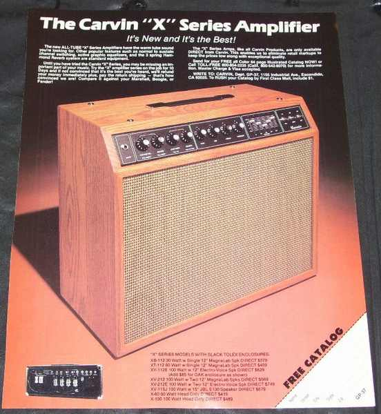 CARVIN - Carvin X Series Amplifier Magazine Ad - Autres