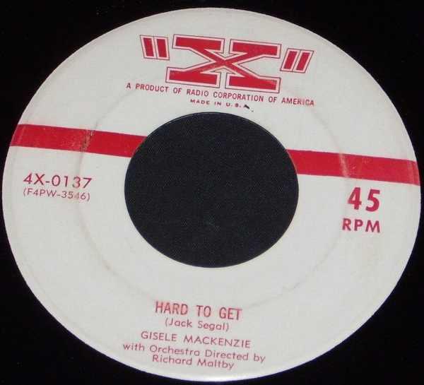 MACKENZIE,  GISELE - Hard To Get / Boston Fancy - 7inch x 1
