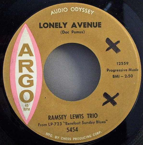 LEWIS,  RAMSEY - Lonely Avenue / Come On Baby - 45T x 1