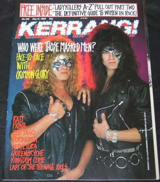 KERRANG MAGAZINE - May 13, 1989  No 238 Crimson Glory - Magazine