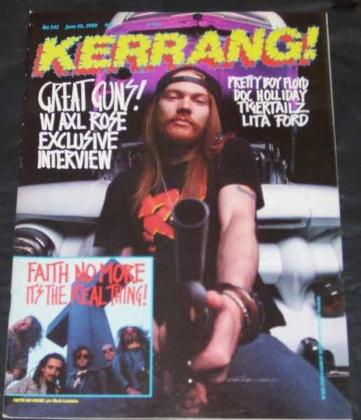 KERRANG MAGAZINE - No 242 June 10, 1989 Guns N Roses - Magazine