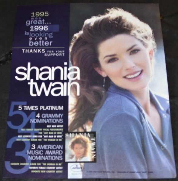 TWAIN,  SHANIA - 1996 Billboard Trade Ad - Others