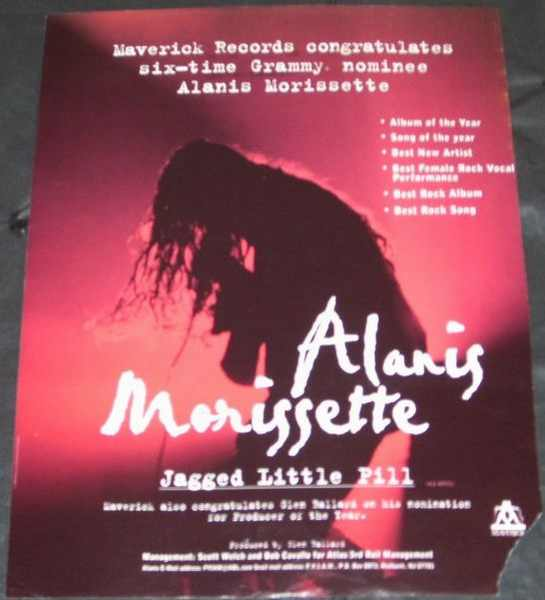 MORISSETTE,  ALANIS - Jagged Little Pill Billboard Trade Ad 1/27/96 - Others