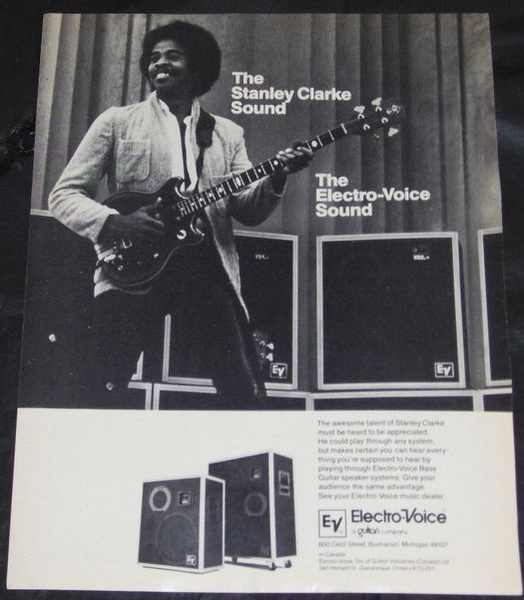 CLARKE,  STANLEY - Electro Voice Magazine Ad - Autres