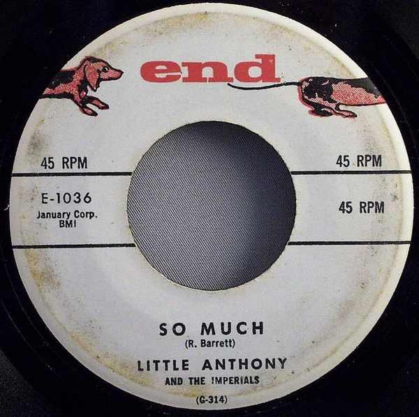 LITTLE ANTHONY & THE IMPERIALS - So Much / Oh Yeah - 7inch x 1