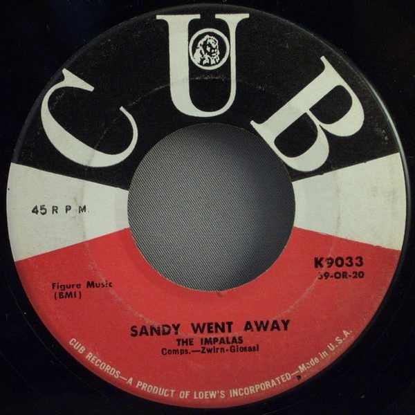 IMPALAS - Sandy Went Away / Oh What A Fool - 7inch x 1