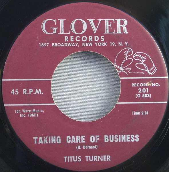 TURNER,  TITUS - We Told You Not To Marry / Taking Care of Business - 7inch x 1