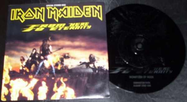 IRON MAIDEN - From Here To Eternity / Roll Over Vic Vella W/PS - 45T x 1