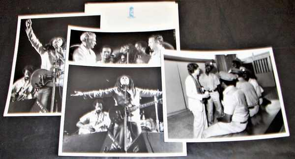 MARLEY,  BOB W/MICK JAGGER - One Love Concert Promo Press Kit 1978 W/Photos - Others