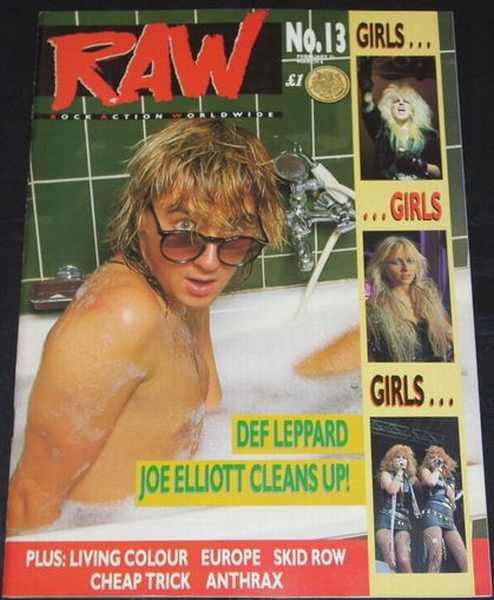 RAW MAGAZINE - No. 13 Def Leppard Plus Girls - Magazine