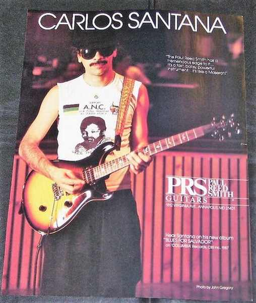 SANTANA,  CARLOS - Paul Reed Smith Guitars Magazine Ad 1987 - Others