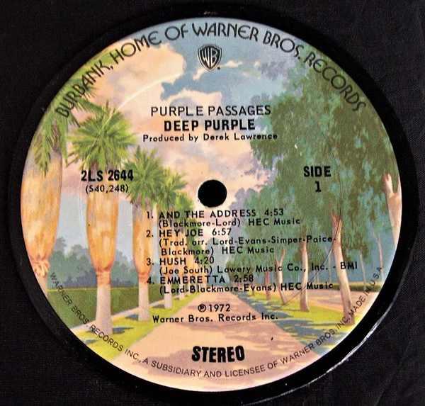 DEEP PURPLE - Purple Passages - Drink Coaster
