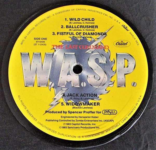 WASP - The Last Command - Sous-Boque