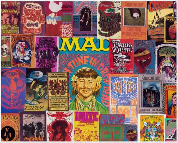 Classic Rock Concert Posters 1A Collage 5 X 7 Larger Image