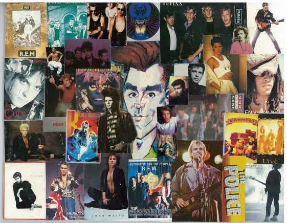 Pop Rock Boys 1A Collage 5 X 7 Smiths, Cure, George Michael + - Click Image to Close